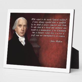 James Madison Constitution Plaque