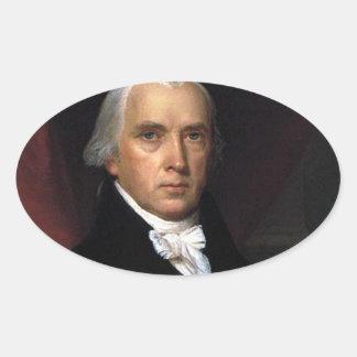 James Madison Oval Sticker