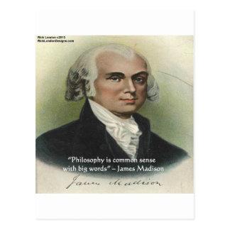 "James Madison ""Philosophy/Common Sense"" Quote Postcard"