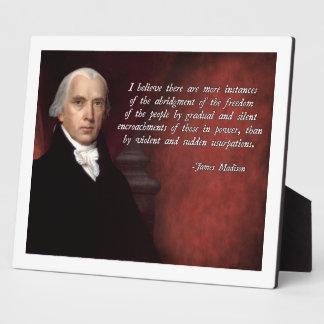 James Madison Quote Plaque