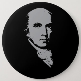 james madison silhouette 6 cm round badge