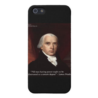 """James Madison """"War & Freedom"""" Wisdom Quote Gifts Case For The iPhone 5"""