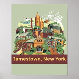 Jamestown Architecture Poster (11 x 14)