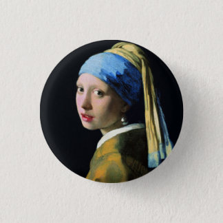 Jan Vermeer Girl With A Pearl Earring Baroque Art 3 Cm Round Badge