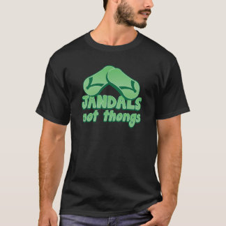 JANDALS not thongs Kiwi Aussie funny design T-Shirt