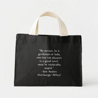 "Jane Austen ""Good Novel"" Quote Bag in Black"