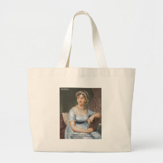 Jane Austen Love Finest Balm Quote Cards & Gifts Large Tote Bag