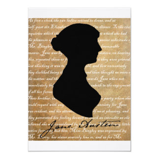 Jane Austen Page Silhouette Card