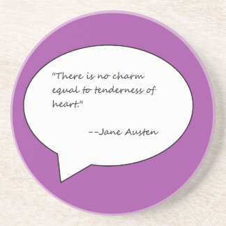 Jane Austen Quote Coaster