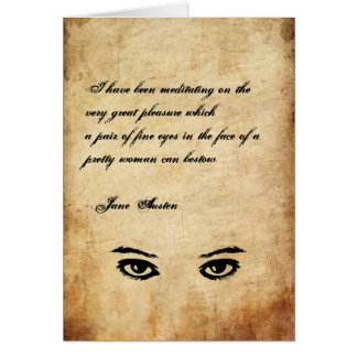 Jane Austen Quote Greeting Card CUSTOMIZED