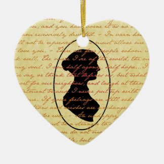 Jane Austen Quotes and Cameo Christmas Holiday Christmas Ornament