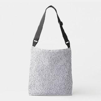 Jane Austen Quotes Crossbody Bag