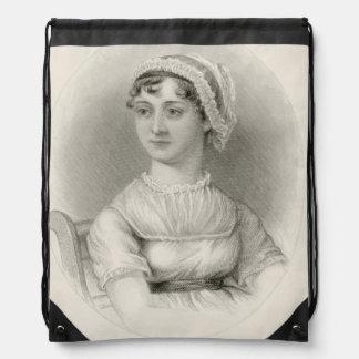 Jane Austen Sepia Portrait String Bag