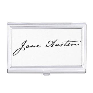 Jane Austen Signature Business Card Holder
