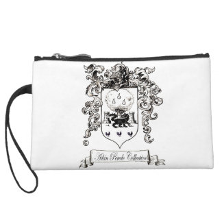 Jane Austen with a Smile Suede Wristlet