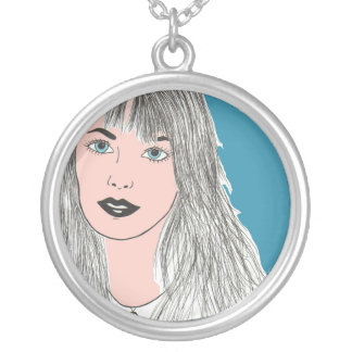 Jane B. Art Silver Plated Necklace