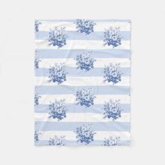"""""""Jane's Rose Bouquet Stripes"""" Small Fleece Blanket"""