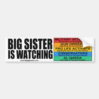 "Janet ""Big Sister"" Napolitano is Watching Car Bumper Sticker"