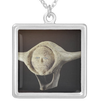 Janus Head, from Cape Dorset Silver Plated Necklace
