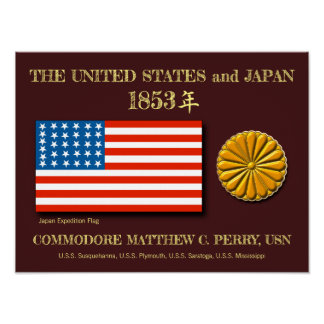 Japan Expedition United States Flag Poster