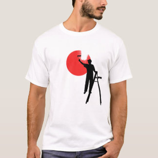 JAPAN FLAG PAINTING T-Shirt