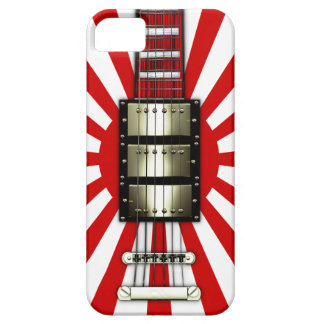 Japan Flag Retro Electric Guitar #1A iPhone 5 Covers