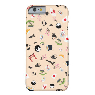 Japan flag with famous icons barely there iPhone 6 case