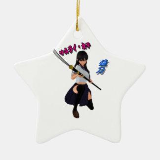 JAPAN/GIRL/LADY/SAMURAI/ANIME/GAME/JAPANESE/KANJI/ CHRISTMAS ORNAMENT