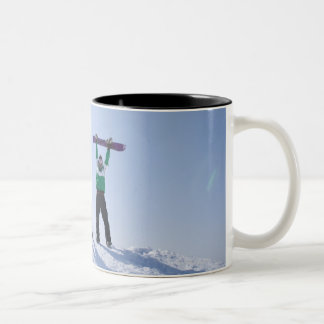 Japan, Hokkaido, Niseko 2 Two-Tone Coffee Mug