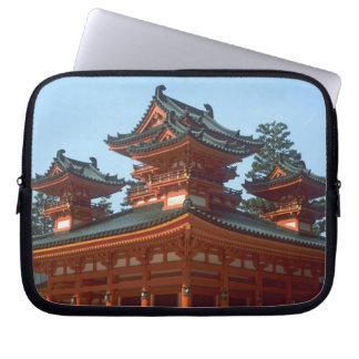 Japan, Kyoto, Colorful Heian Jingu Temple, Laptop Sleeve