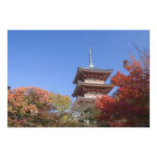 Japan, Kyoto, Pagoda in Autumn colour Photo