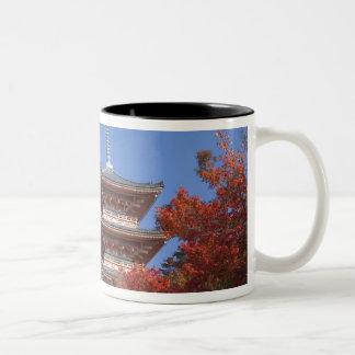 Japan, Kyoto, Pagoda in Autumn colour Two-Tone Coffee Mug
