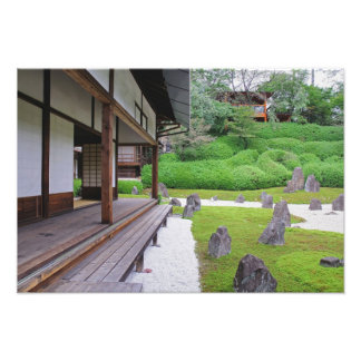 Japan, Kyoto. Stone garden in silence Art Photo