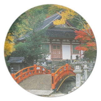 Japan, Nara, Ryuzenji Temple Dinner Plate