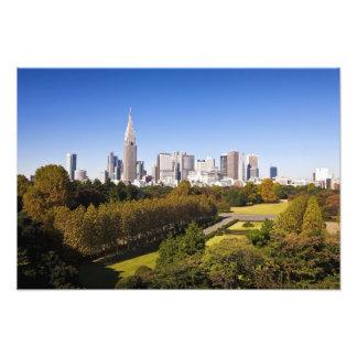 Japan. Tokyo. Shinjuku District Skyline and Photographic Print