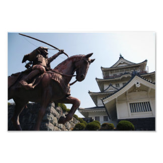 Japanese castle and warrior in Chiba Photo Print
