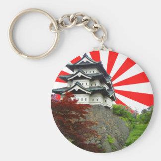 Japanese Castle Basic Round Button Key Ring
