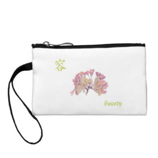 """Japanese Character """"Beauty"""" Coin Clutch Coin Wallet"""