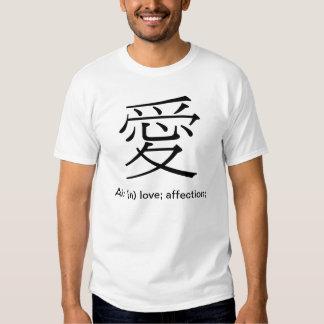 "Japanese character ""Kanji""--""愛"" love; affection T Shirt"