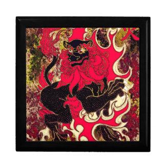 Japanese Fire Dragon (Black) Gift Box