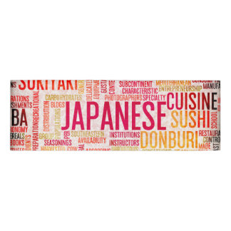 Japanese Food and Cuisine Menu Background
