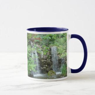 Japanese Garden Waterfall mug