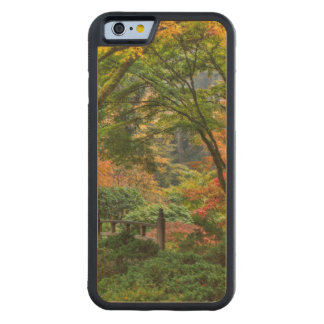 Japanese Gardens In Autumn In Portland, Oregon 4 Carved Maple iPhone 6 Bumper Case