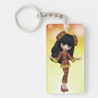 Japanese Girl Keychain