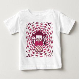 Japanese Kokeshi doll, burgundy Baby T-Shirt