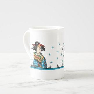 Japanese lady design, china mug
