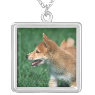 Japanese Midget Shiba Silver Plated Necklace