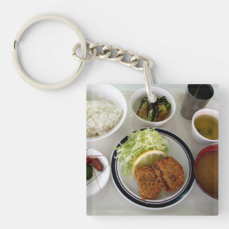 Japanese Miso Soup Food Bowls Photo Keychain