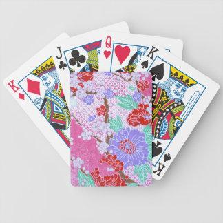 Japanese Sakura Pattern Playing Cards