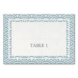 Japanese Seigaiha Waves Elegant Wedding Table Cards